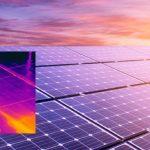 Napelem panelek vizsgálata hőkamerával
